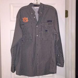Auburn University Columbia PFG shirt. Like New. M